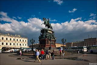 St. Peterburg. Monument to Nicholas I.
